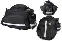 Sakwa na bagażnik Sport Arsenal 480, 3 komory, 15L czarna