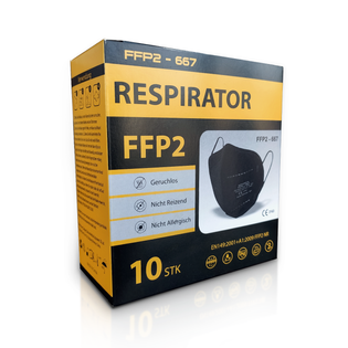 Maseczka ochronna FFP2 10szt z normą i CE