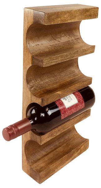 Naścienny Drewniany Stojak Na Wino zdjęcie 2