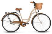 Rower miejski 26 VELLBERG NEXUS 3-biegi kawowo-brązowy + koszyk
