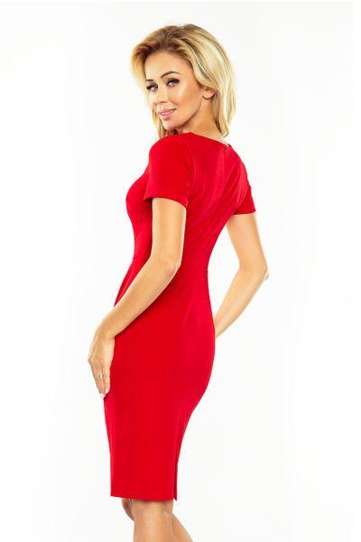 150-2 Sukienka DOROTA - elegancka - CZERWONA Rozmiar - XL zdjęcie 4