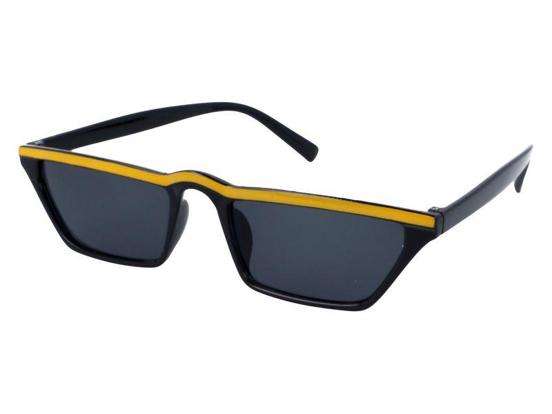 Prostokątne okulary przeciwsłoneczne czarne 2705 7