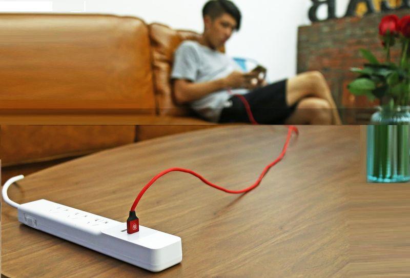BASEUS USB lightning Długi kabel iPhone iPad 300cm - Czerwony zdjęcie 4