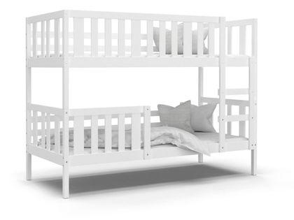 Łóżko piętrowe NEMO białe + materace