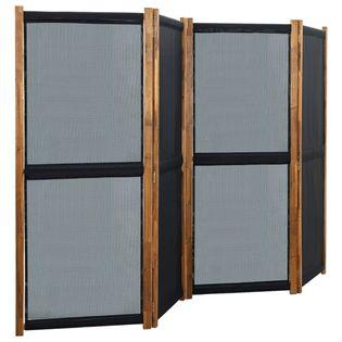 Parawan 4-panelowy czarny 280x170cm VidaXL