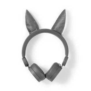 Słuchawki przewodowe Nedis | Okrągły kabel 1,2 m | Nauszne | Odpinane uszy magnetyczne | Willy Wolf | Szary