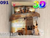 Pościel 3D bawełna satyna 200x220cm MŁYN