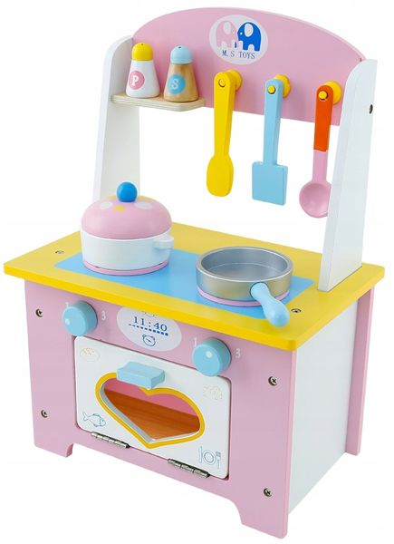 Drewniana Kuchnia Dla Dzieci z Akcesoriami otwierany piekarnik U46 zdjęcie 5