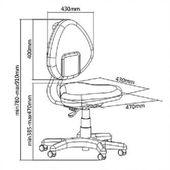 Regulowane Krzesło Fotel ortopedyczny dla dziecka SST5 Blue zdjęcie 3