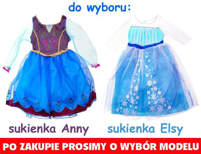 5c5ad9db10 Piękna Suknia FROZEN Kraina Lodu ELSA lub ANNA • Arena.pl
