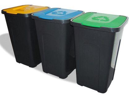 POJEMNIK ODPADY SORTA BRĄZOWY 50L śmieci segregacja