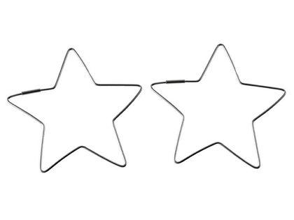 Eleganckie srebrne kolczyki gładkie duże gwiazdki gwiazdy stars srebro 925 K2127