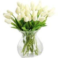 Tulipany silikonowe w naczyniu, jak żywe bukiet 10szt+dzban, wiosna