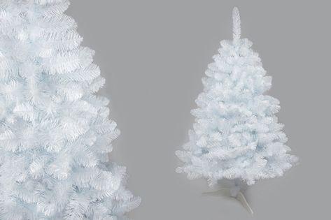 Choinka sztuczna Biała Sosna 220 cm na stojaku Premium Gęsta 1862