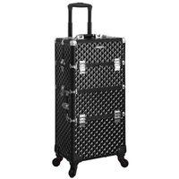 SONGMICS Aluminiowy organizer/walizka na kosmetyki 36x23x75cm