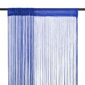 Zasłony sznurkowe, 2 sztuki, 100 x 250 cm, niebieskie