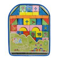 Klocki edukacyjne dla dzieci - drewniane cyferki w plecaku