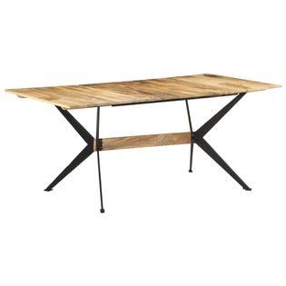 Lumarko Stół jadalniany, 180 x 90 x 76 cm, lite drewno mango;