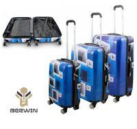 17006 Set walizek BLUE zestaw 3 szt poliwęglan XL L M set