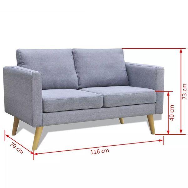 Sofa Sofy Jasnoszare 2 Osobowe I 3 Osobowe