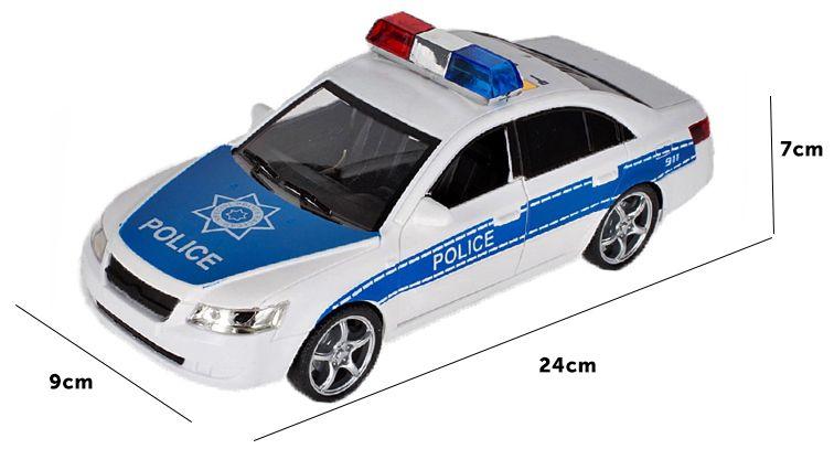 Samochód policyjny Radiowóz interaktywny dźwięki i światła Y260 zdjęcie 5