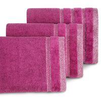 Ręcznik frotte z bordiurą GLORY 50X90 amarant