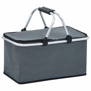 Lumarko Składana torba termiczna, szara, 46x27x23 cm, aluminium!