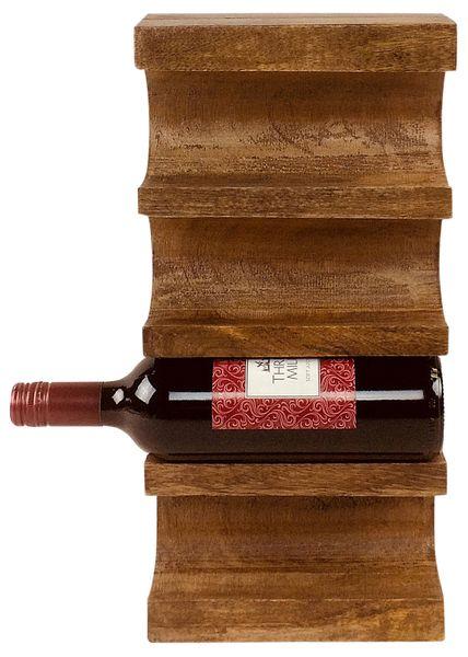 Naścienny Drewniany Stojak Na Wino zdjęcie 1