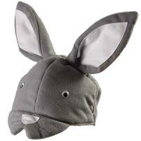 CZAPKA KRÓLIK króliczek strój ZAJĄC szary KARNAWAŁ
