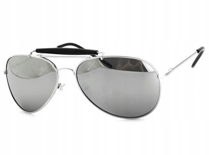 Aviator okulary przeciwsłoneczne pilotki metal zdjęcie 1