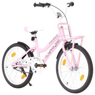 """Rower dziecięcy z przednim bagażnikiem, 20"""", różowo-czarny"""