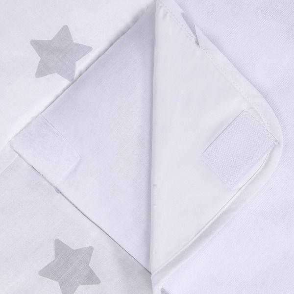 Lulando Mata na przewijak, Szary-Biały w Szare Gwiazdki, 75x75 cm zdjęcie 5