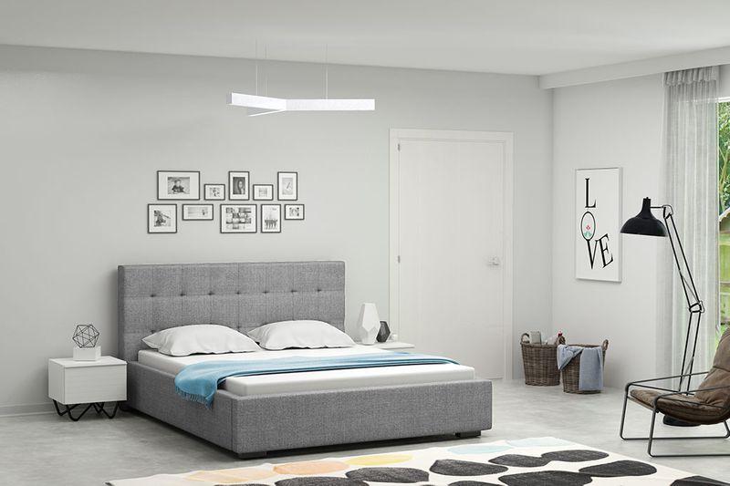 łóżko łóżka Sypialnia Tapicerowane Nowoczesne Lena 200x200 Producent