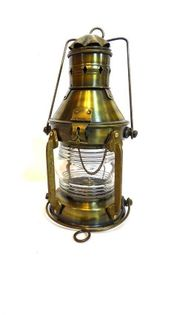 Marynistyczna, mosiężna lampa żeglarska retro SL9