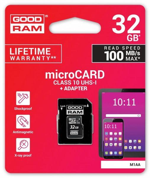 GOODRAM Karta pamięci microSDHC 32GB CL10 + adapter na Arena.pl