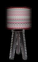LAMPA STOŁOWA - TRÓJNÓG DREWNIANA MAŁA - PLECIONY SWETER