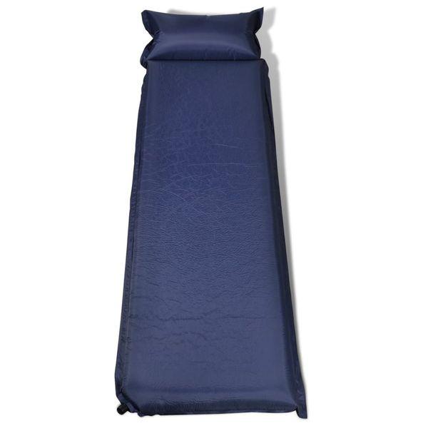 Dmuchany materac, niebieski (10 x 66 x 200 cm). zdjęcie 2