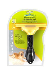 FURminator dla psa roz L szczotka długa sierść