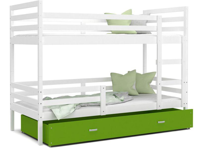Łóżko piętrowe JACEK COLOR  190x80  szuflada + materace zdjęcie 1