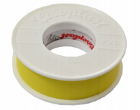 Taśma izolacyjna PVC 15mm 10m samo gasnąca żółta