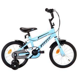 Rower dla dzieci, 14 cali, czarno-niebieski