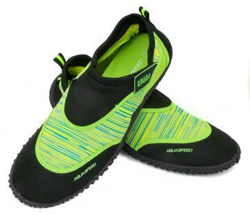 Buty do wody AQUA SHOE MODEL 2 35-45 Rozmiar - Obuwie plażowe - 45, Kolor - Obuwie plażowe - Model 2 - B - czarny / zielony
