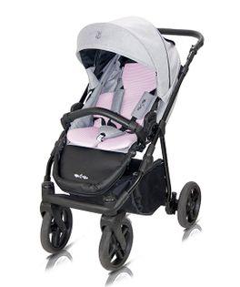 Wózek spacerowy Fiori Milu Kids szaro-różowy