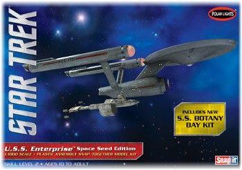Model Plastikowy Do Sklejania Polar Lights (USA) - Star Trek TOS USS Enterprise Space Seed