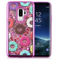 Zizo Liquid Glitter Star Case - Etui Samsung Galaxy S9+ (Donuts)