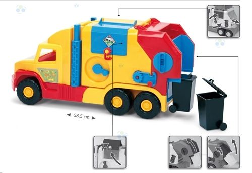 Super Truck Śmieciarka krótka WADER 36580 #A1 zdjęcie 5