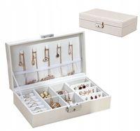 Pudełko box szkatułka na biżuterię biały połysk