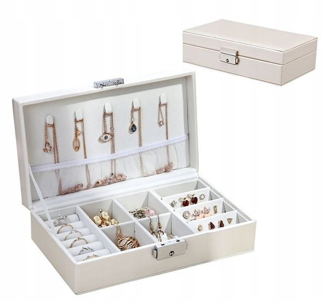 Pudełko box szkatułka na biżuterię biały połysk na Arena.pl