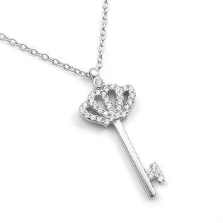 Naszyjnik srebrny rodowany kluczyk