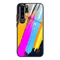 Color Glass Case Etui Pokrowiec Nakładka Ze Szkła Hartowanego Z Osłoną Na Aparat Huawei P30 Pro Pattern 3